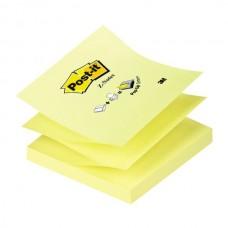 Lipnūs lapeliai POST-IT Z-forma, 76 x 76 mm, 100 lapelių, geltoni