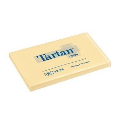 Lipnūs lapeliai TARTAN, 76 x 127 mm, 100 lapelių, gelsvi
