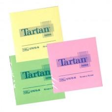 Lipnūs lapeliai TARTAN, 76 x 76 mm, 100 lapelių, neoniniai