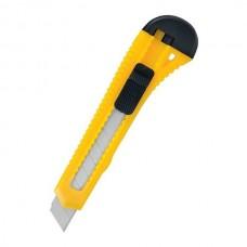 Kanceliarinis peilis, geležtės plotis 18mm, su fiksatoriumi