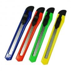 Kanceliarinis peilis, geležtės plotis 9mm, su fiksatoriumi