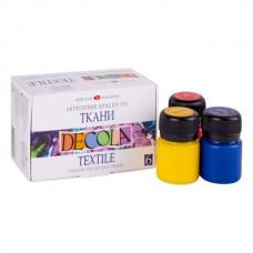 Akrilinių dažų rinkinys audiniams DECOLA 6 spalvos po 20ml