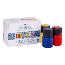 Akrilinių dažų rinkinys DECOLA 6 spalvos po 20ml