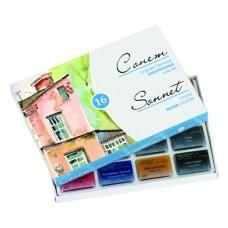 Akvarelė dailininkui Sonet, 16 spalvų