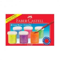 Guašų rinkinys Faber-Castell 6 neoninės spalvos po 15ml
