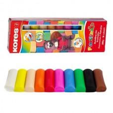 Plastilinas KORES 10 spalvų