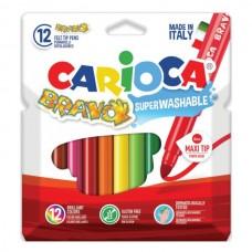 Flomasteriai Carioca Bravo, 12 spalvų