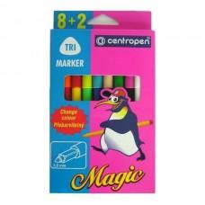Flomasteriai Centropen Magic Tri, 10 spalvų