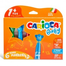 Flomasteriai mažyliams Carioca, 6 spalvų