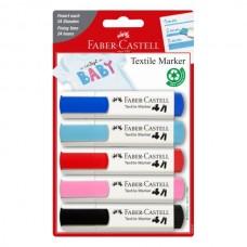 Žymeklių rinkinys tekstilei Faber-Castell, 5 spalvų