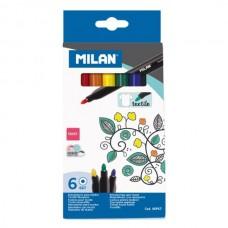 Žymeklių rinkinys tekstilei MILAN, 6 spalvų