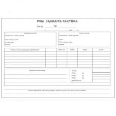 PVM sąskaita-faktūra A5 (2x50) be Nr.
