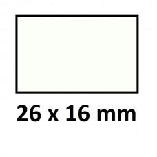 Lipnios etiketės markiratoriams 26 x 16 mm baltos (rulone 1000 vnt.)