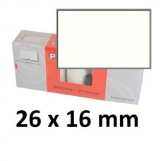 Lipnios etiketės markiratoriams 26 x 16 mm baltos (dėžutėje 20 vnt.)