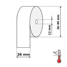 Kasos aparato juosta 26 mm 20 m Termo (skersmuo iki 40 mm)