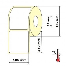 Lipnios etiketės 105 x 150 mm Termo Eco (rulone 350 vnt.)