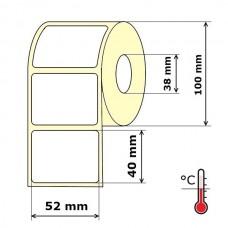 Lipnios etiketės 52 x 40 mm Termo Eco (rulone 1000 vnt.)