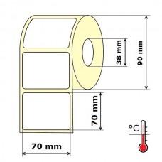 Lipnios etiketės 70 x 70 mm Termo Eco (rulone 500 vnt.)