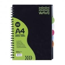 Sąsiuvinis Astra Wave A4 120 lapų langeliais, su skirtukais