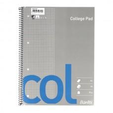 Sąsiuvinis Bantex College A4 70 lapų langeliais, su spirale