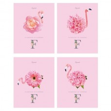 Sąsiuvinis BG Flamingo A5 96 lapai langeliais, su spirale