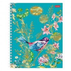 Sąsiuvinis kartoniniu viršeliu Bird of Paradise A5 96 lapai langeliais, su spirale