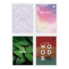 Sąsiuvinis kietu viršeliu Interdruk A5 96 balti lapai, įvairūs viršeliai