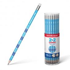 Grafitinis pieštukas ErichKrause 2x2 HB, su daugybos lentele