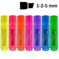 Teksto žymeklis Faber-Castell Superfluorecent Nr.46, įvairių spalvų
